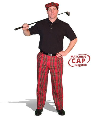 Mens Royal Stewart & Black Pant Golf Outfit