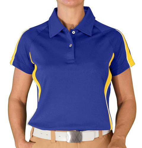 Ladies Eagle Golf Shirt - Royal/Yellow