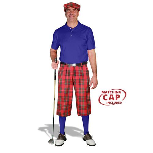 Golf Outfit - Mens Royal Stewart & Royal Blue