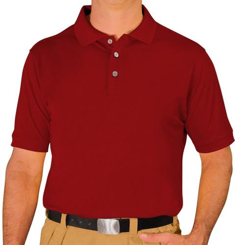 Mens Pro-Dry Golf Shirt - Maroon