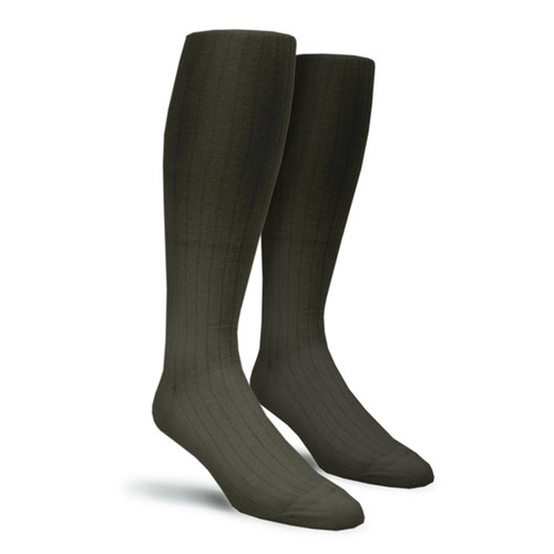 Solid Socks - Mens Over-the-Calf Charcoal
