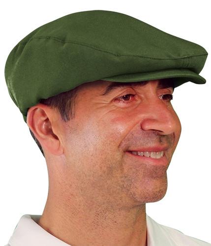 Golf Cap - 'Par 3' Mens Olive Microfiber