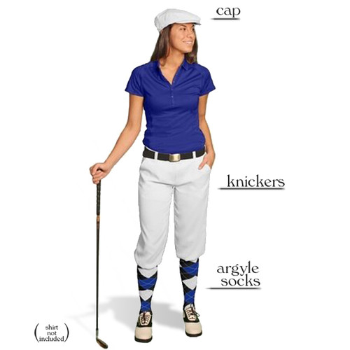 Golf Knickers - Ladies White Start-in-Style Outfit