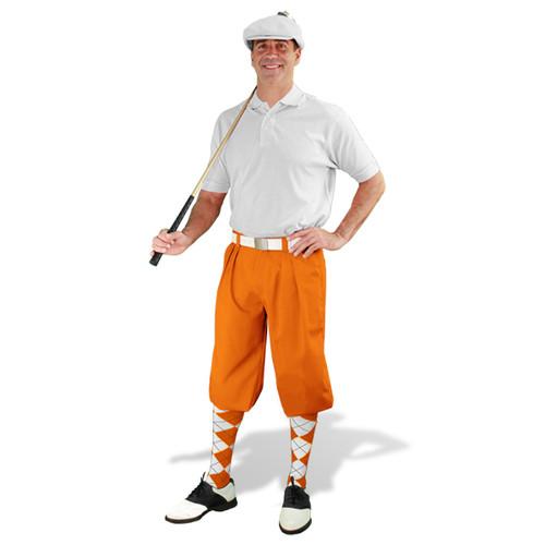 Mens Orange & White Golf Outfit