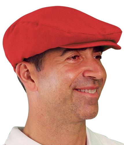Golf Cap - 'Par 3' Mens Red Microfiber