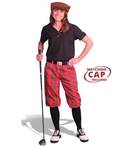 Golf Outfit Women - Royal Stewart & Black