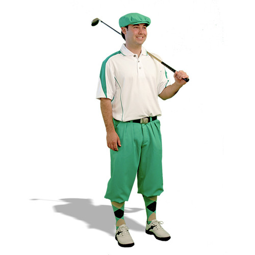 Mens Wedge White/Lime Green Golf Outfit