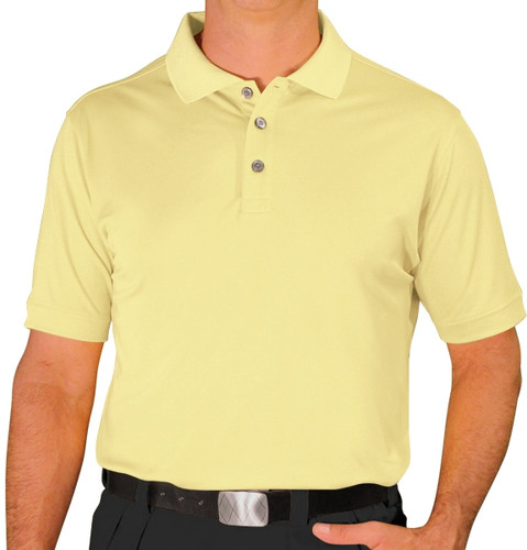 Mens Pro-Dry Golf Shirt - Butter