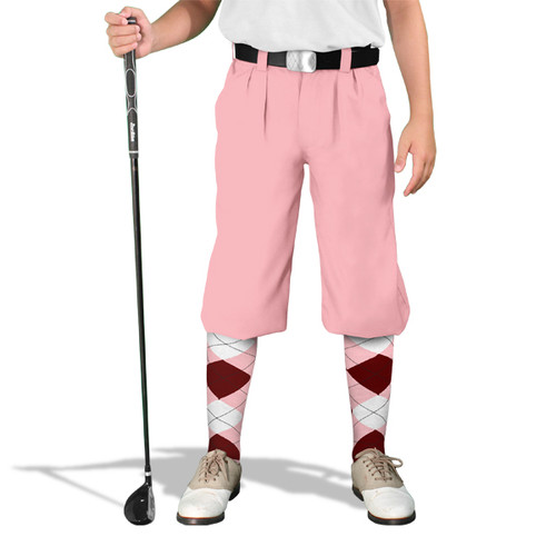 Golf Knickers - 'Par 3' Youth Pink Microfiber
