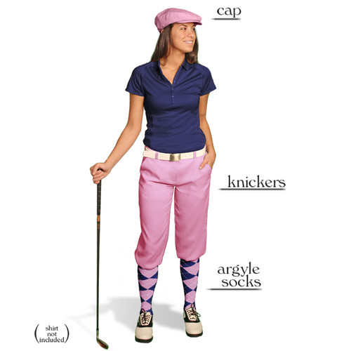 Golf Knickers - Ladies Pink Start-in-Style Outfit