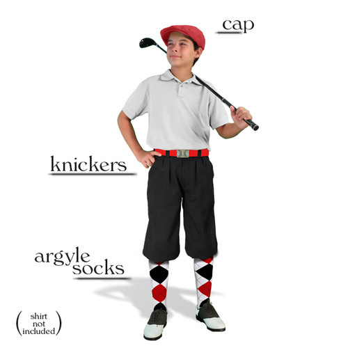 Golf Knickers - Youth Black Start-in-Style Outfit