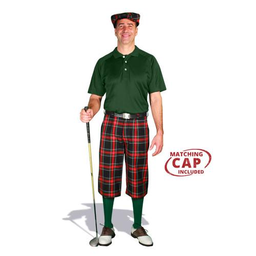 Golf Outfit - Mens Black Stewart & Dark Green