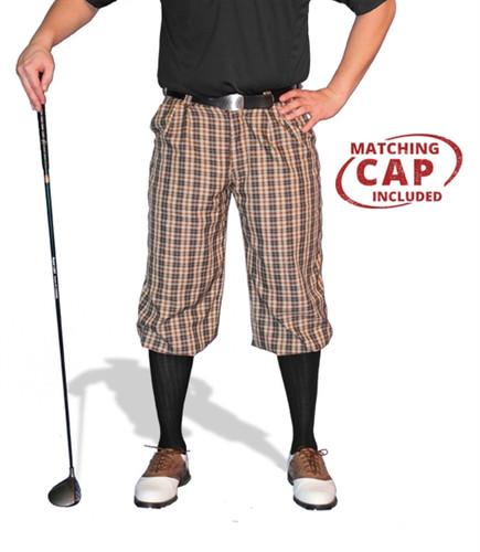 Plaid Golf Knickers & Cap - 'Par 5' Mens Blackburn