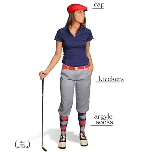 Golf Knickers - Ladies Taupe Start-in-Style Outfit