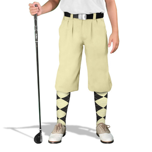 Golf Knickers - 'Par 3' Youth Natural Microfiber