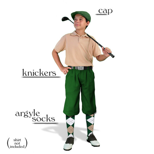 Golf Knickers - Youth Dark Green Start-in-Style Outfit