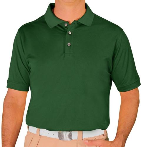 Mens Pro-Dry Golf Shirt - Dark Green