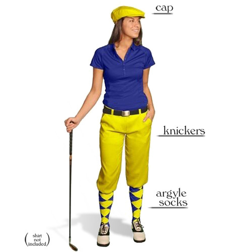 Golf Knickers - Ladies Yellow Start-in-Style Outfit