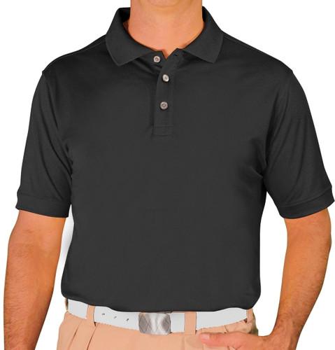 Mens Pro-Dry Golf Shirt - Black