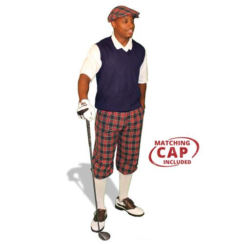 Golf Outfit - Mens Navy Stewart & Navy Sweater