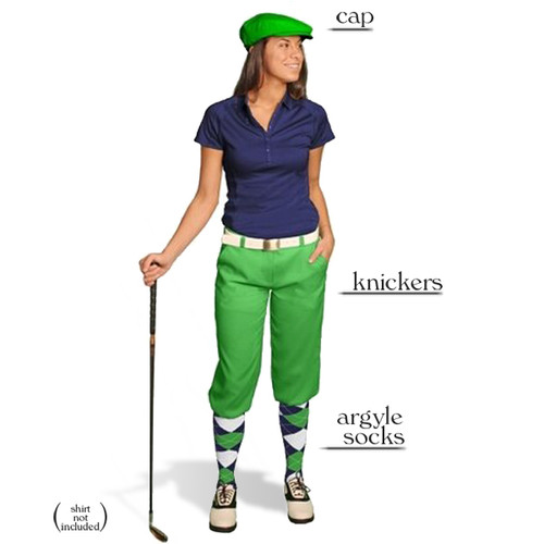 Golf Knickers - Ladies Lime Start-in-Style Outfit