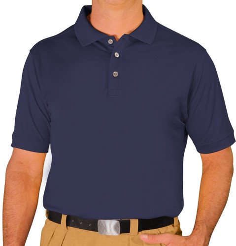 Mens Pro-Dry Golf Shirt - Navy