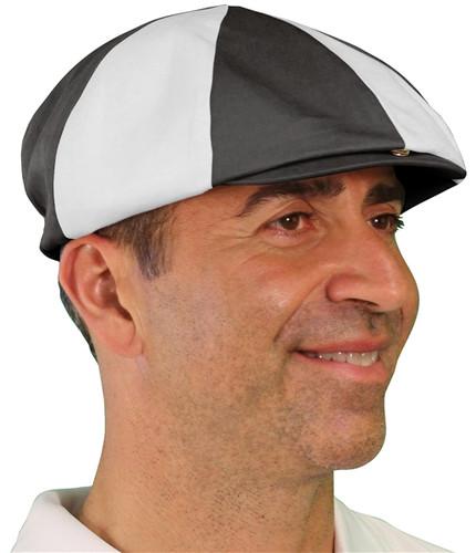 Dual-Tone Golf Cap - 'Par 4' Mens Charcoal/White
