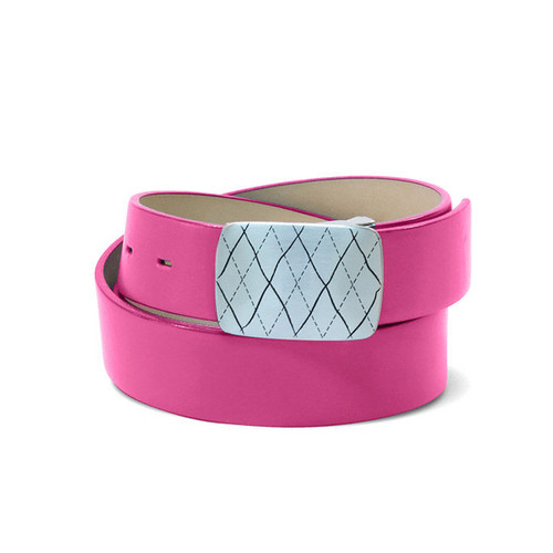 Couture Leather Mens Golf Belt - Pink
