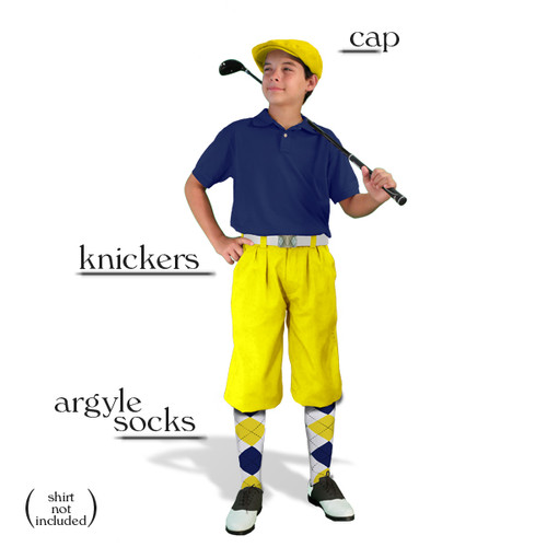 Golf Knickers - Youth Yellow Start-in-Style Outfit