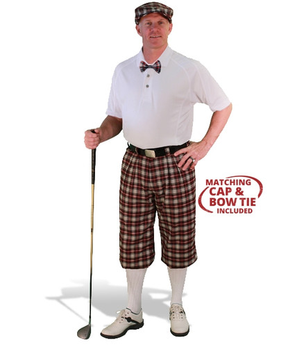 Mens Old English & White Golf Outfit