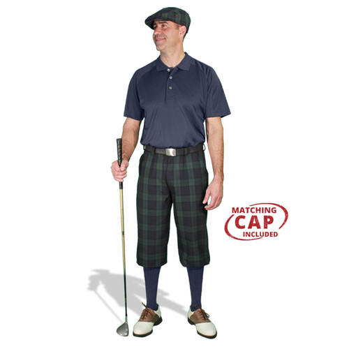 Golf Outfit - Mens Black Watch & Navy