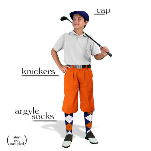 Golf Knickers - Youth Orange Start-in-Style Outfit