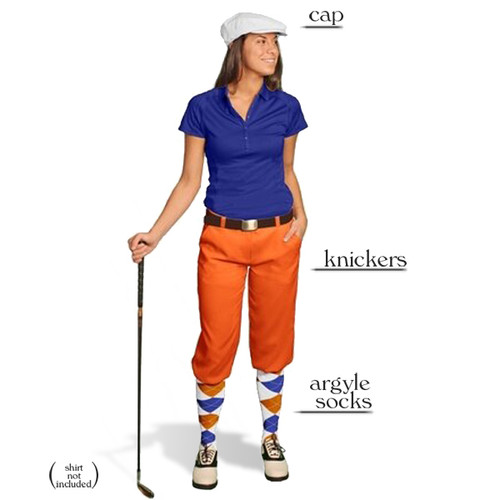 Golf Knickers - Ladies Orange Start-in-Style Outfit