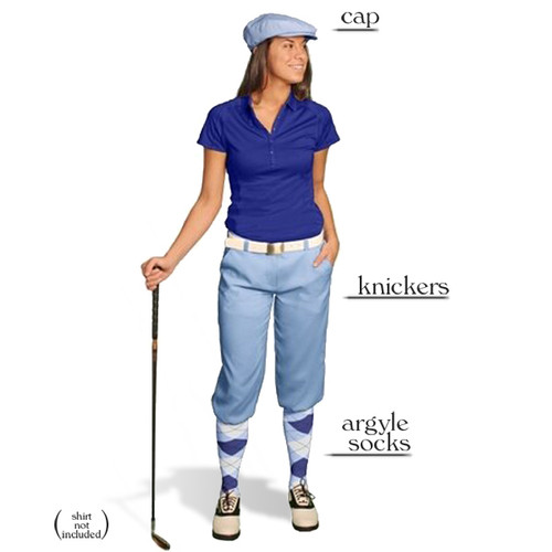 Golf Knickers - Ladies Light Blue Start-in-Style Outfit