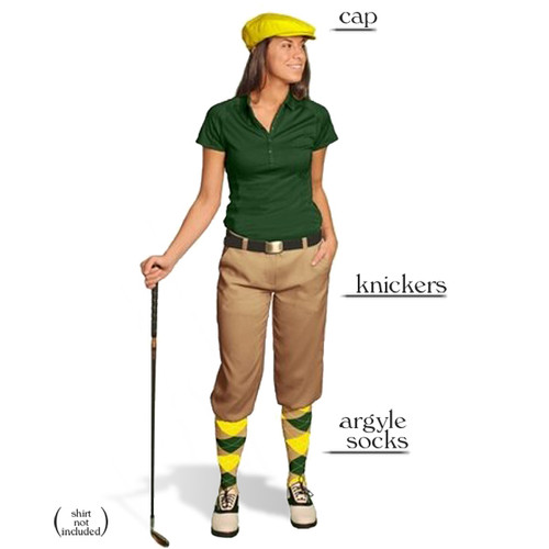 Golf Knickers - Ladies Khaki Start-in-Style Outfit