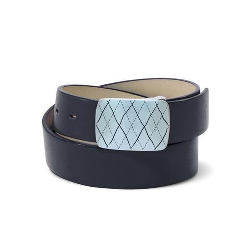 Couture Leather Mens Golf Belt - Black