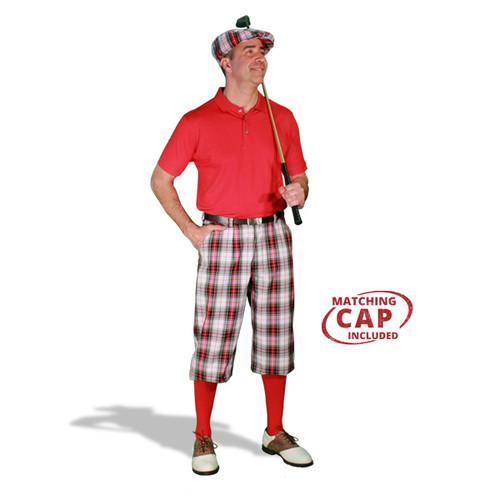 Golf Outfit - Mens Dress Stewart & Red