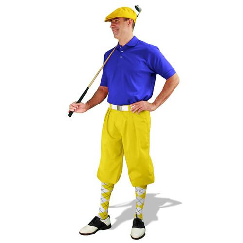Mens Yellow & Royal Golf Outfit