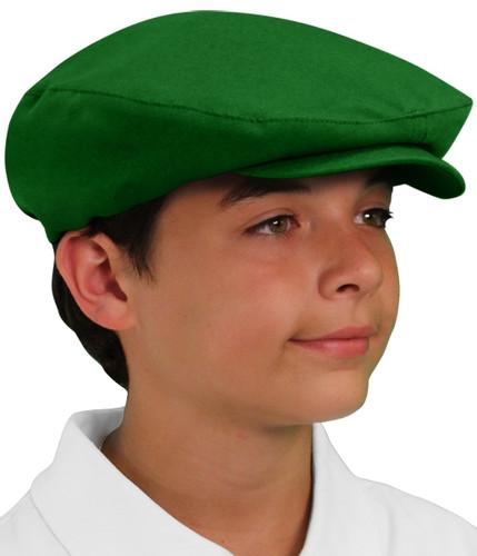 Golf Cap - 'Par 3' Youth Dark Green Microfiber