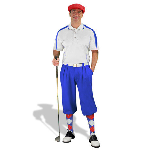 Mens Wedge White/Royal Golf Outfit