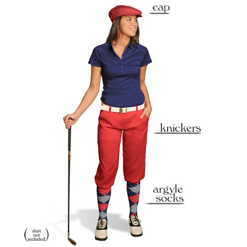 Golf Knickers - Ladies Red Start-in-Style Outfit