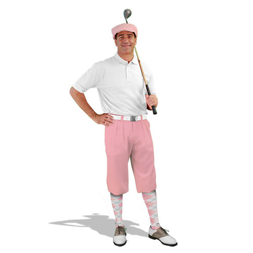 Mens Pink & White Golf Outfit