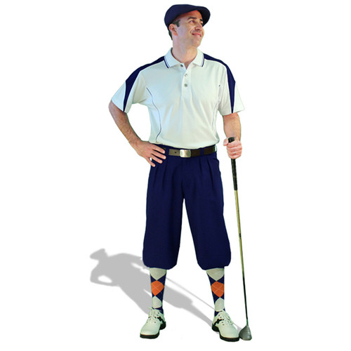 Mens Wedge White/Navy Golf Outfit