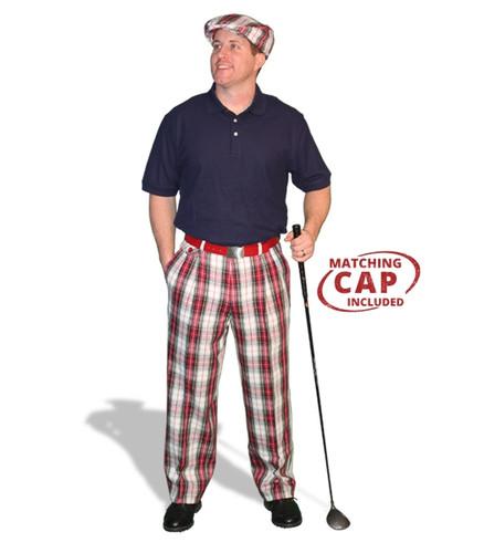 Mens Dress Stewart & Navy Pant Golf Outfit