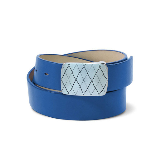 Couture Leather Ladies Golf Belt - Royal Blue