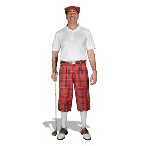Golf Outfit - Mens Royal Stewart & White