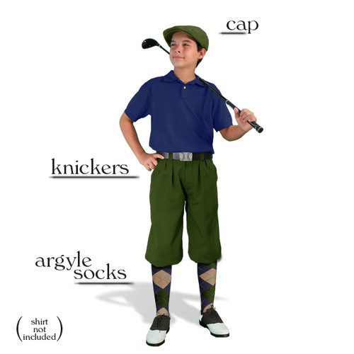 Golf Knickers - Youth Olive Start-in-Style Outfit