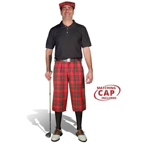 Golf Outfit - Mens Royal Stewart & Black
