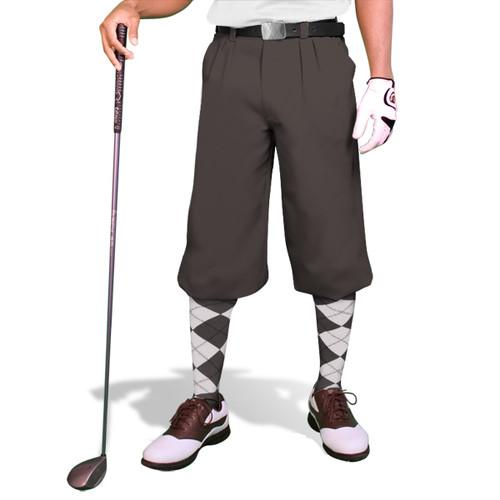 'Par 3' Mens Charcoal Microfiber Golf Knickers