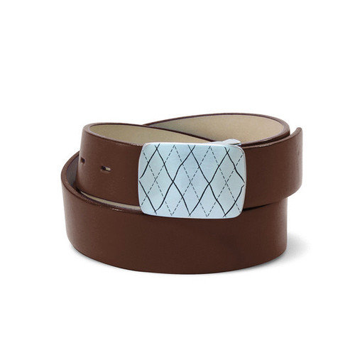 Couture Leather Mens Golf Belt - Brown